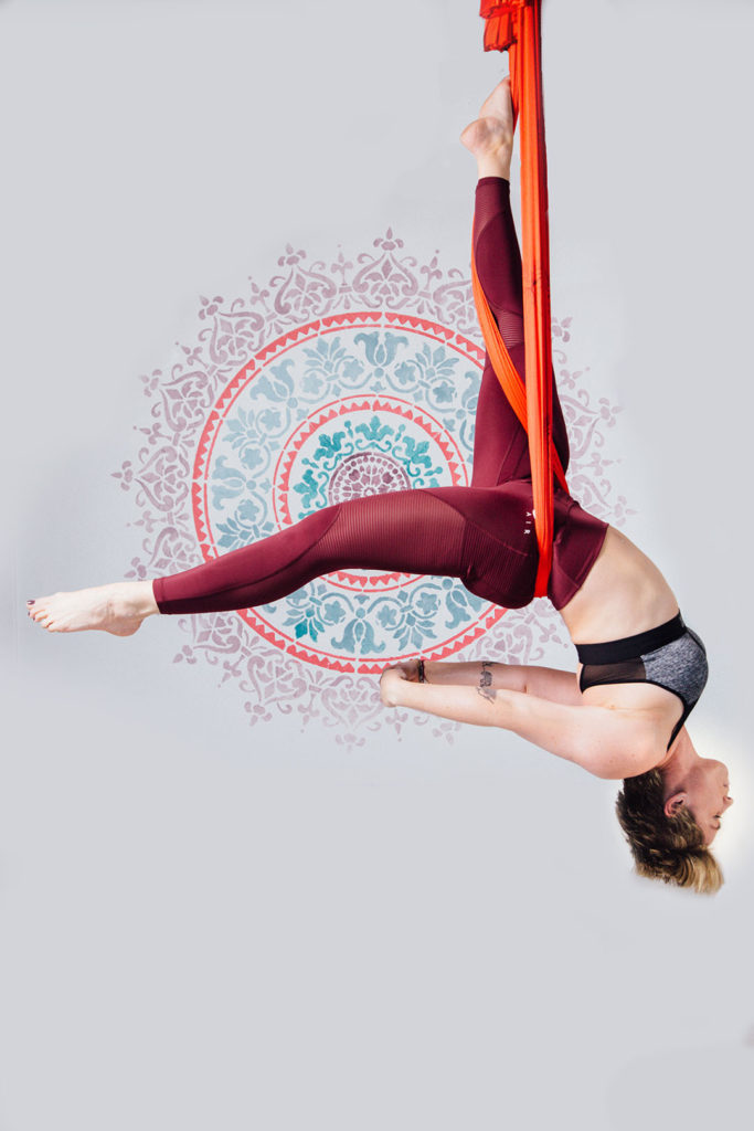 Yoga pose in the air - Personal Brand Photographer Bray