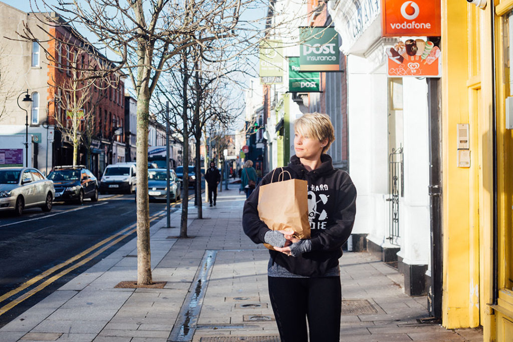 Anna doing shopping in Bray street - Brand Photography
