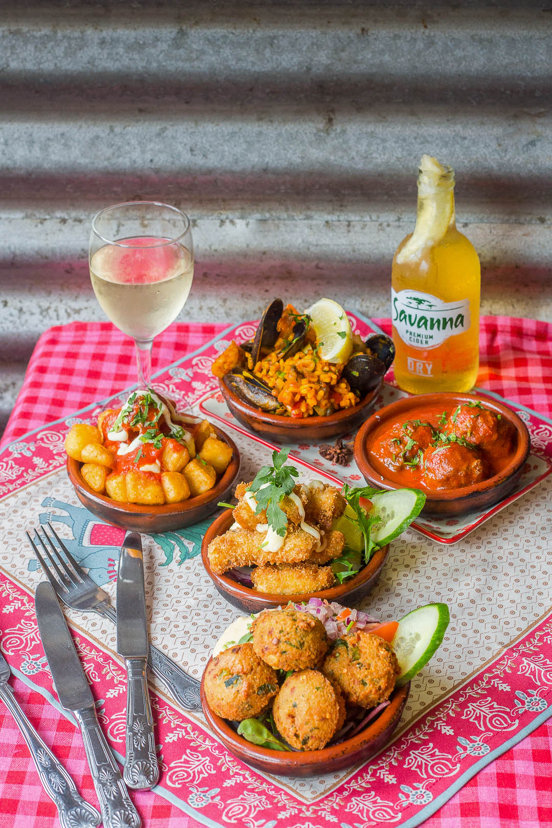 Tapas with white wine | Food Photographer Dublin
